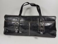 Kenneth Cole Reaction black leather handbag 40cm x 20cm
