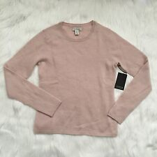 Adrienne Vittadini Cashmere Crew Neck Pink Sweater NWT M Medium
