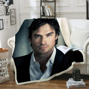The Vampire Diaries 3D Print Blanket Throw Bed Soft Warm Fleece Single Double