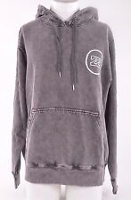 2015 NWOT MENS BILLABONG LOOPER PULLOVER FLEECE HOODIE $55 L Black Acid wash