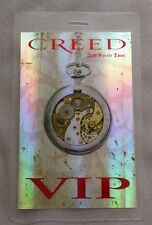 2010 Creed Laminated Backstage Pass Vip Hologram Full Circle Tour