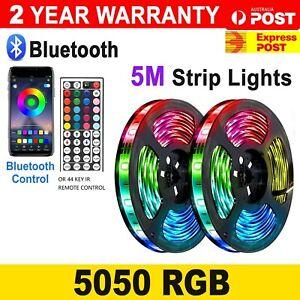 Waterproof 12V 5M RGB 5050 SMD 300 LEDs Led Strip Light remote Bluetooth control