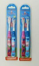 2 New Peppa Pig Kids Toothbrushes Pink Blue Peppa George