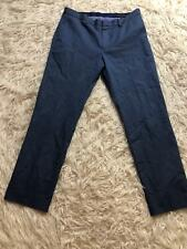 Banana Republic pants size 32 X 30 mens blue flat front slacks   **flaw**