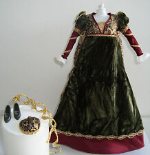 Barbie Clothes/Fashions Gorgeous Medieval Velvet Gown NEW!!