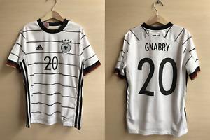 5+/5 Kids Deutschland #20 Gnabry 2019/2021 Home Sz M Germany soccer shirt 11-12Y