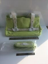 Large Green & White Purse Tote With Wallet