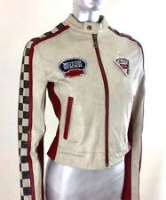 Rare Vintage Wilson's Leather Motor Biker Moto Club Jacket REBEL Gold ~ Size XS