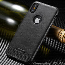 iPhone 8 & 7/6s Plus SLIM Luxury Leather Back Ultra Thin TPU Case Cover iPhone X