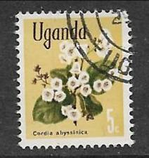 Sello usada Uganda 1969 - 5c-flora nativa, Cordia abyssinica, edición definitiva