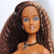 Nude Barbie Teresa Doll Crimp brunette hair Grey eyes Cali girl AO42