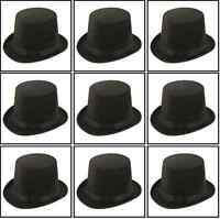 5 x BLACK TOP HAT ADULT MAGICIAN FANCY DRESS RINGMASTER H14 145