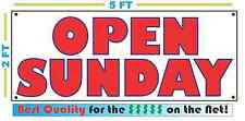 OPEN SUNDAY Banner Sign All Weather NEW Larger Size
