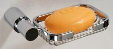 Talin Round Wire Soap Basket Chrome on Brass Bathroom Accessory