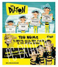 Biglietti - Inviti Compleanno personalizzati DALTON 30 Pz