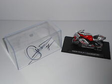 Carlos Checa Hand Signed 1:43 Yamaha YZR-M1 Moto GP 2003 Model Very Rare.