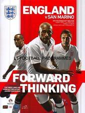 * ENGLAND v SAN MARINO- 12th October 2012 (WORLD CUP QUALIFIER) *
