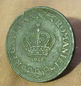 ROMANIA -MIHAI I (1940-1947) ZINC 20 LEI 1942 KM # 62 FINE