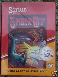SPIDER CITY Cartridge Sirius for Atari NEW 800/XL/XE