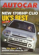 RENAULT CLIO 170 BHP  AUTOCAR ROAD TEST 'SALES BROCHURE' DECEMBER 1999