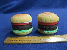 Whole Hamburger Tomato Lettuce Salt and Pepper Shakers Earthenware         93