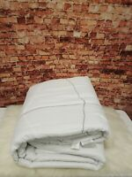 JLA HOME  510 DESIGN  TALLEY STITCHED  8-PIECE  COMFORTER SET WHITE QUEEN SIZE