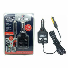 Bluecol Car to Car Jumpstart Charger with Digital Meter