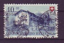 Gestempelte schweizer Briefmarken mit Bauwerks-Motiv
