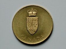 CANADA 1867-1967 Confederation Commemorative Brass Medal with Crowned Shield