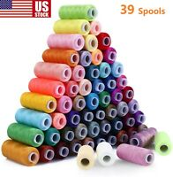 Sewing Thread 39 Color 200 Yards Each Spool for Sewing and Manual Machine US