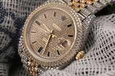 Rolex Datejust 41mm 126303 Yellow Gold and Stainless Steel Fully Iced Out Watch