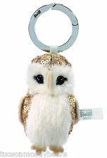 Steiff Keyring Owl, gold sequin & alpaca & felt. EAN 025914