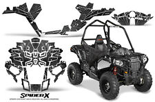 POLARIS SPORTSMAN ACE 2014-2016 CREATORX GRAPHICS KIT DECALS SPIDERX SILVER