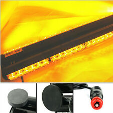 """18"""" Double Side 108W LED Car Police Bar Beacon Light Warning Strobe Light Amber"""