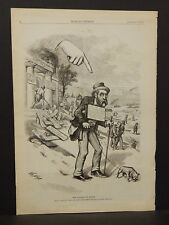 Harper's Weekly Single Pg The Finger of Scorn 1873 B13#17
