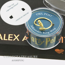 Authentic Alex and Ani Harry Potter Owl Post 14kt GP Adjustable Ring