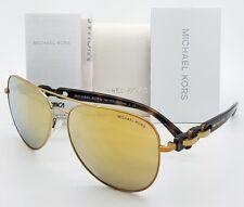 New Michael Kors Pandora sunglasses MK1015 11297P Gold Mirror Aviator 1015 chain