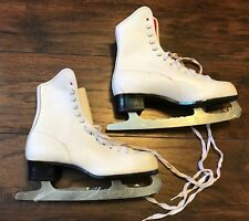 Vtg Ladies Women'S Imperial Front Lace Hardened & Tempered Ice Skates Size 7
