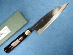 Sakai Genkichi Aogami Steel Kurouchi Funayuki Japanese Knife 180mm