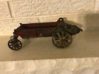 Antique Arcade Mccormick deering manure spreader Wagon for Parts only
