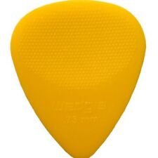 Wedgie Guitar Picks  12 Pack  Delrin  Textured  .73mm  Yellow