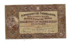 Svizzera Switzerland   5 franchi      1949  BB  Good       Pick 11n   lotto 1832