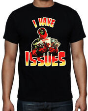Deadpool I have Issues Funny Comic Book Character Action Movie Black T Shirt