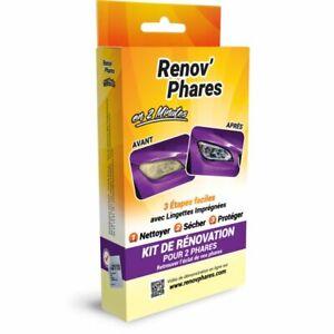 RENOV'PHARES Kit de restauration de phares rapide et facile en 2 min