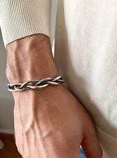 Men bracelet, man bracelet, braided steel men's bracelet, silver braid bracelet