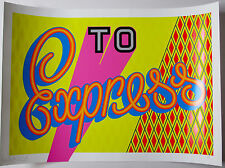 BEN EINE - TO EXPRESS SIGNED LIMITED EDITION SCREEN PRINT - GRAFFITI / POW