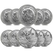 Lot of 10 - 2019 1/2 oz Mexican Silver Libertad Coin .999 Fine BU
