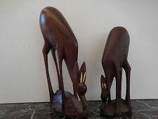 statuettes bois gazelles Afrique Gambie fait main CURIOSITY by PN