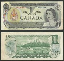 CANADA - 1 Dollar 1973 Pick 85a (2 letters serial first issue)  XF