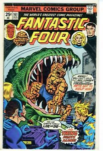 Fantastic Four #161  T Rex The Thing Fights Alone Marvel Comics Group